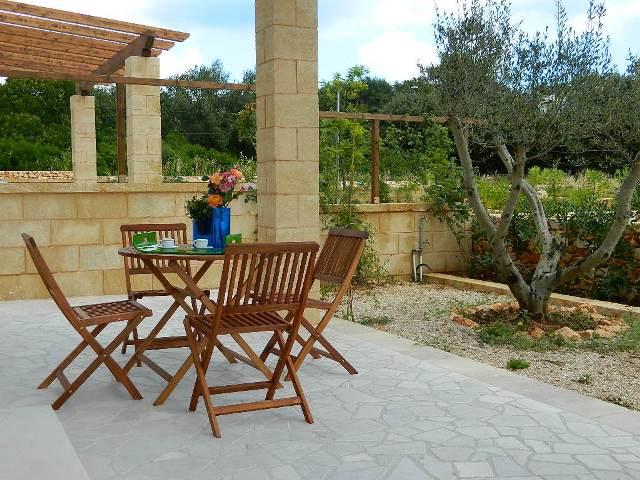Appartamento in affitto l 39 ulivo marina di novaglie - Giardino con ulivo ...